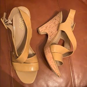 New Franco Sarto Patent Leather Sandals Size 10.5